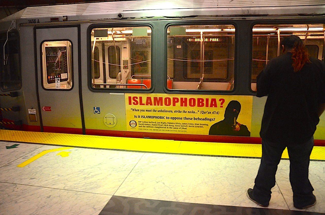 islamophobia train ad
