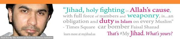 AFDI my jihad ad Times Square bomber