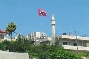 mosque nazi flag