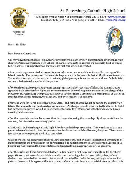 Letter to Parents re Ahmed Bedier-1 copy