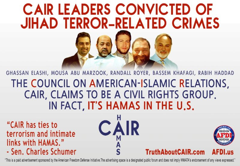 More Than 120 Members of Congress Issue Letters of Support for Hamas-tied terror org CAIR - Geller Report News