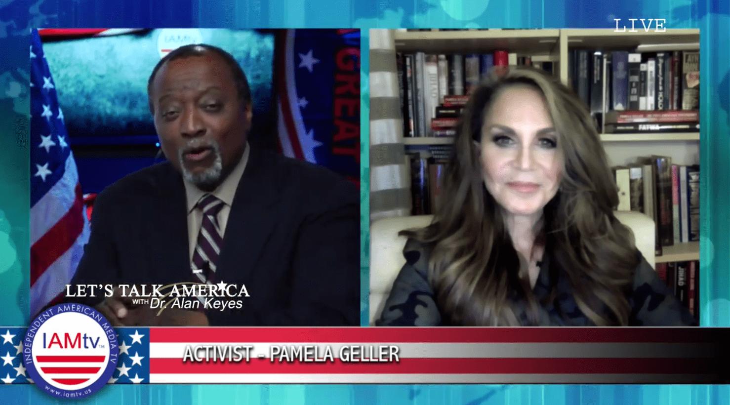 Let's Talk America With Alan Keyes: Pamela Geller (Video)